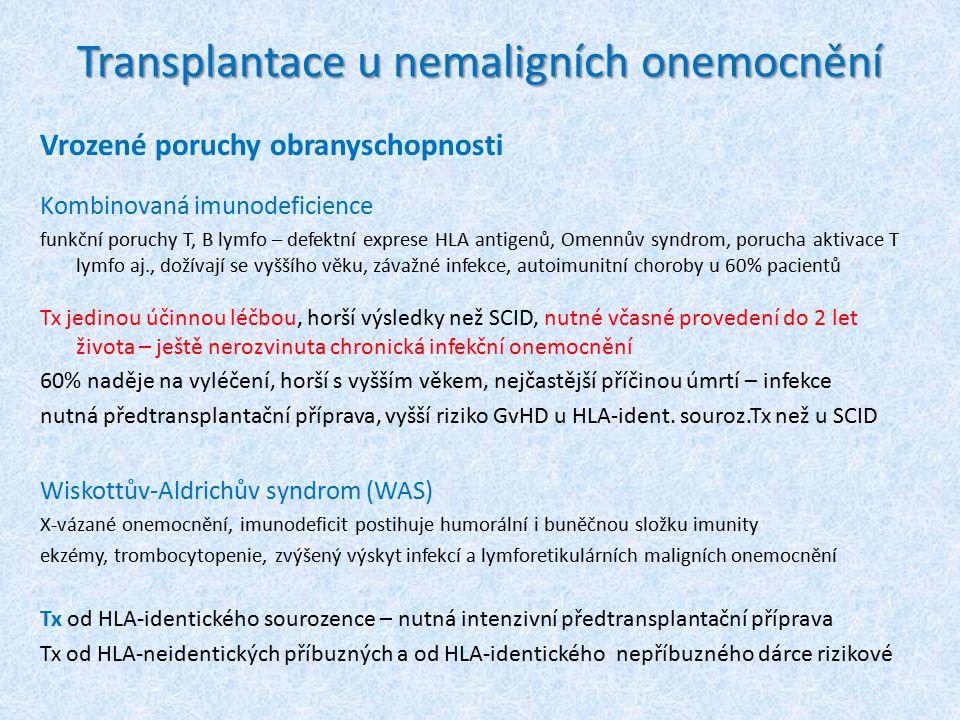 Transplantace u nemaligních onemocnění