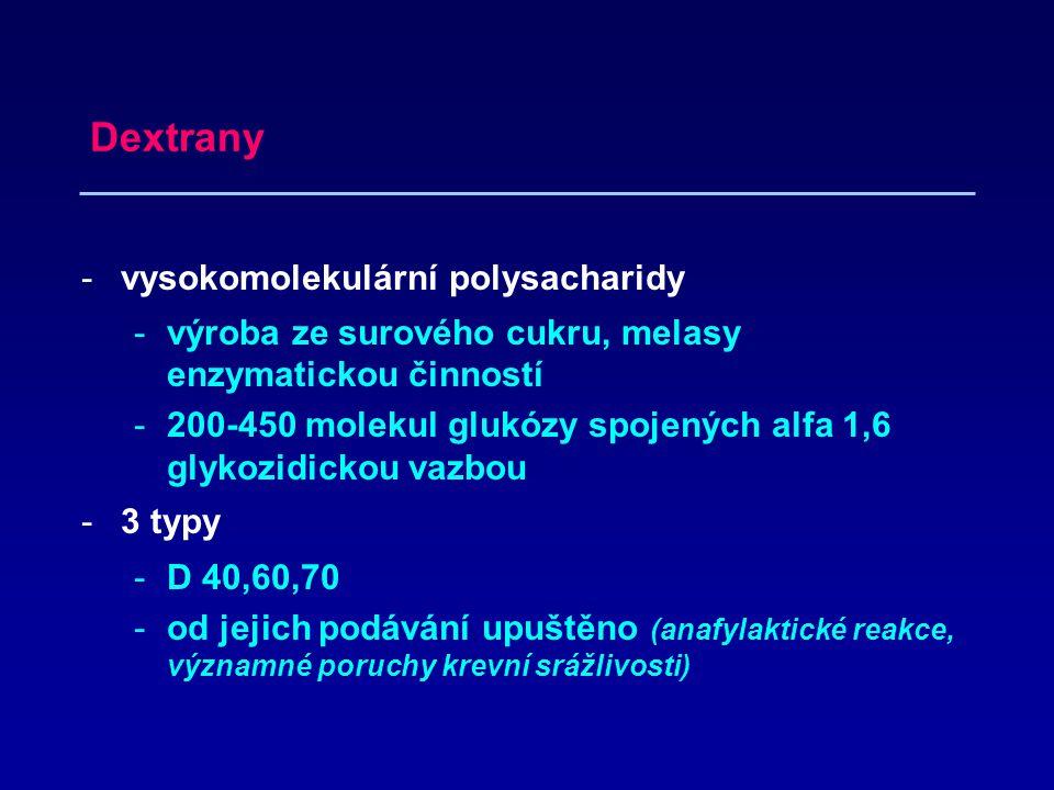 Dextrany vysokomolekulární polysacharidy