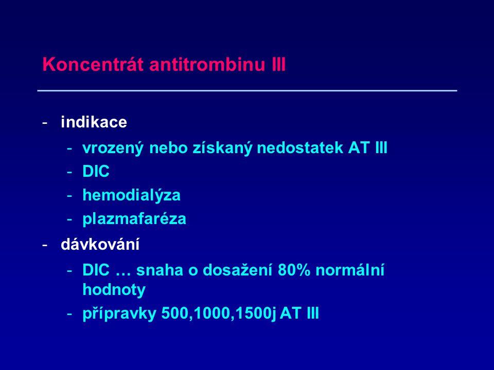 Koncentrát antitrombinu III