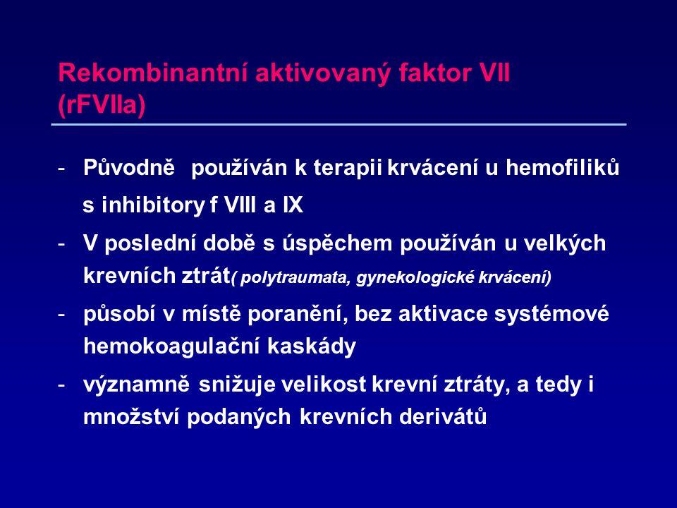 Rekombinantní aktivovaný faktor VII (rFVIIa)