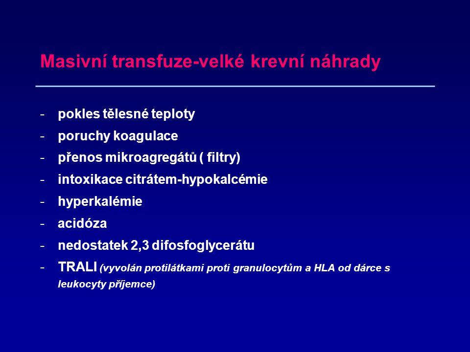 Masivní transfuze-velké krevní náhrady