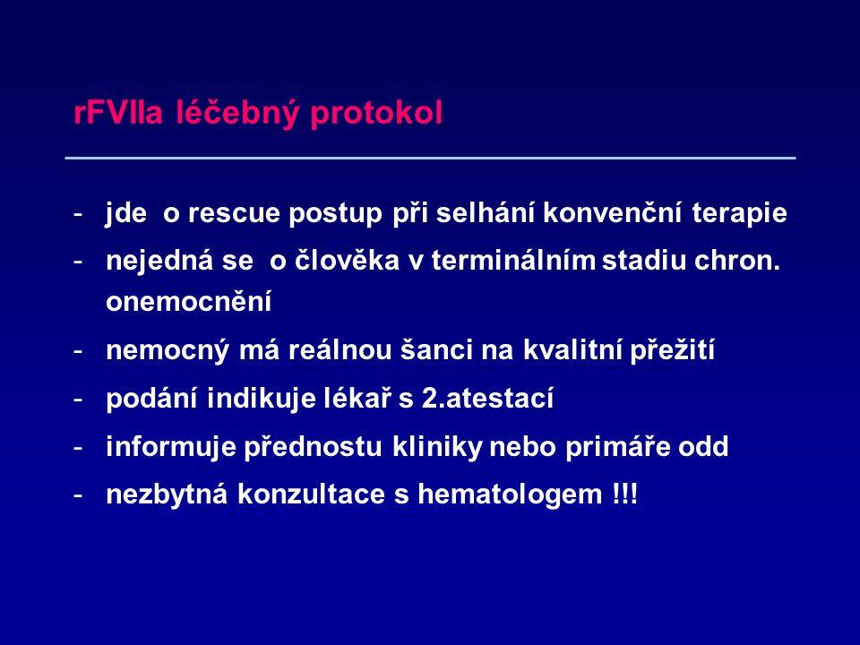 rFVIIa léčebný protokol