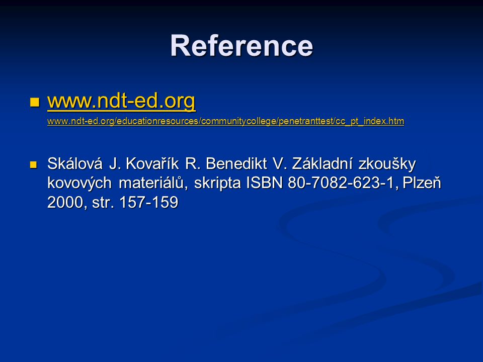 Reference www.ndt-ed.org