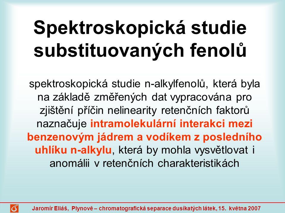 Spektroskopická studie substituovaných fenolů
