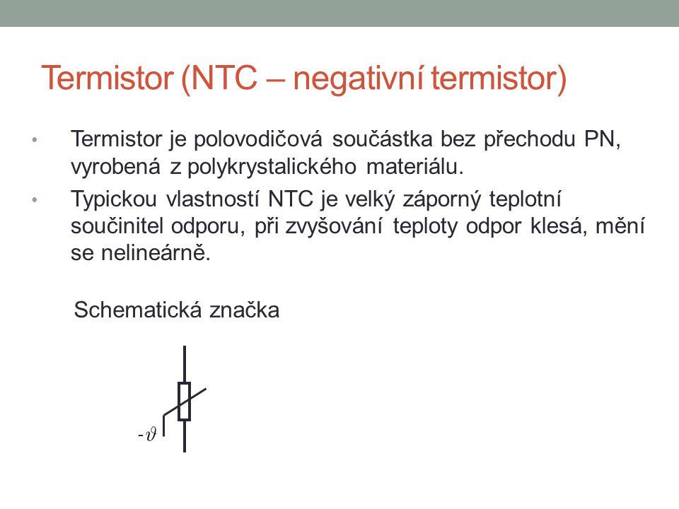 Termistor (NTC – negativní termistor)