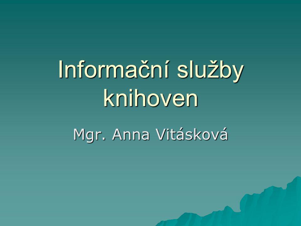 Informační služby knihoven