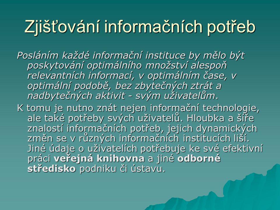 Zjišťování informačních potřeb