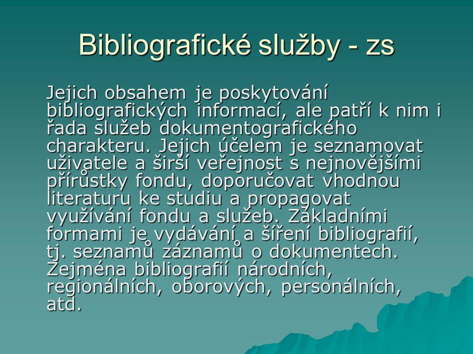 Bibliografické služby - zs