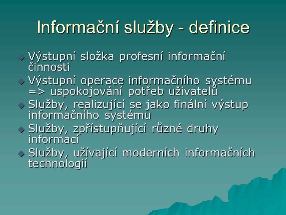 Informační služby - definice