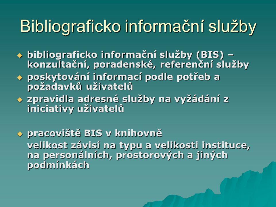 Bibliograficko informační služby
