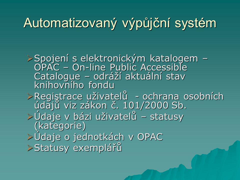 Automatizovaný výpůjční systém