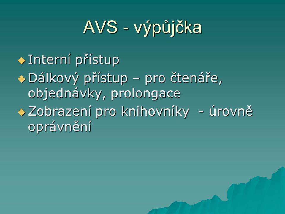 AVS - výpůjčka Interní přístup