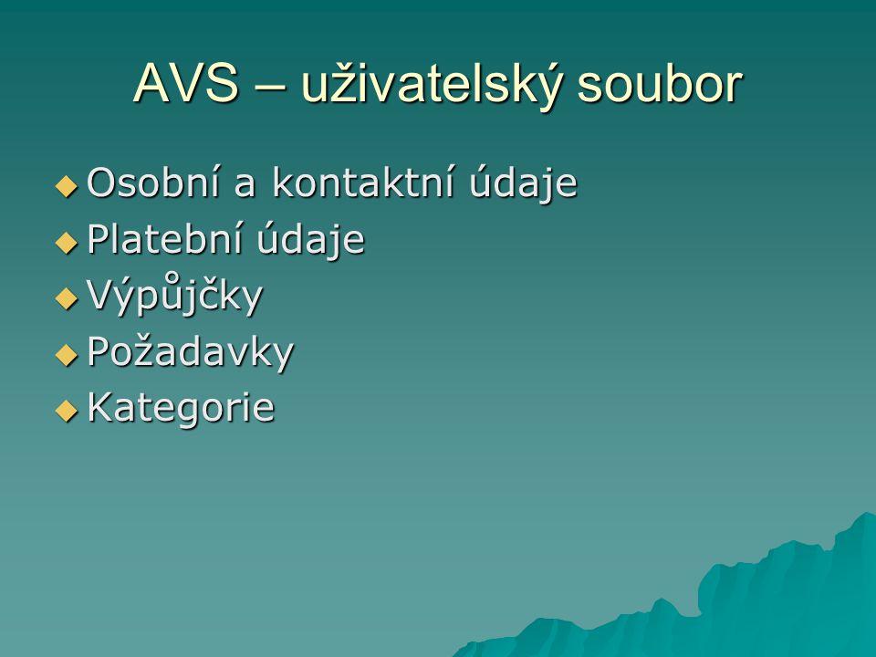 AVS – uživatelský soubor