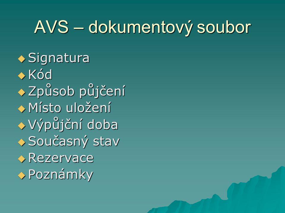 AVS – dokumentový soubor