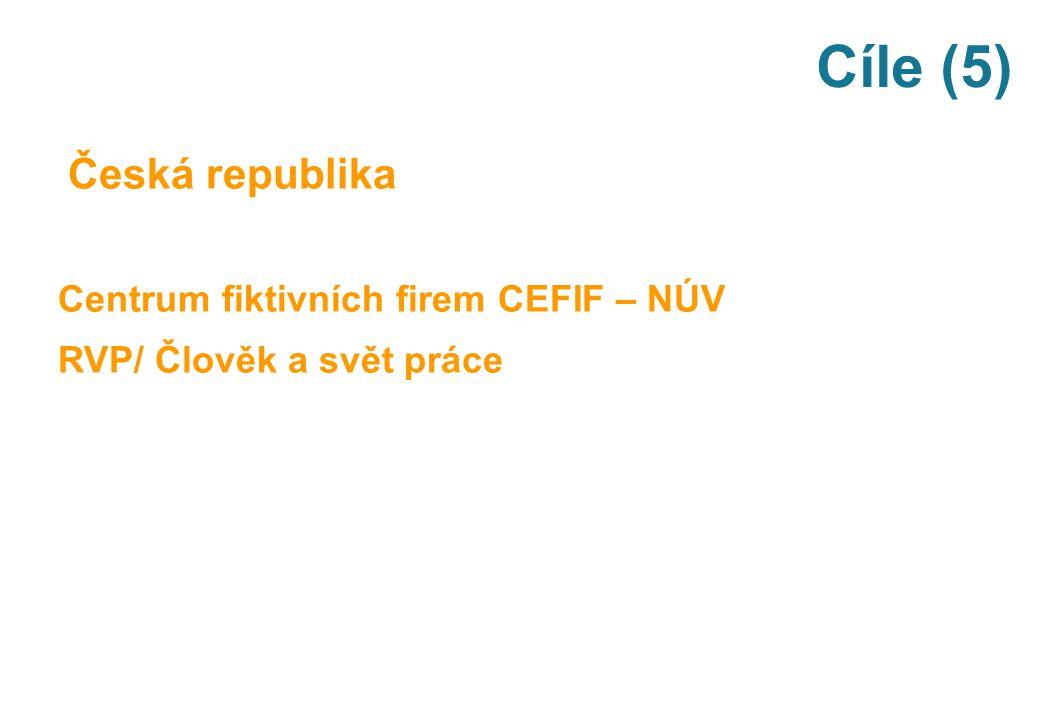 Cíle (5) Česká republika Centrum fiktivních firem CEFIF – NÚV