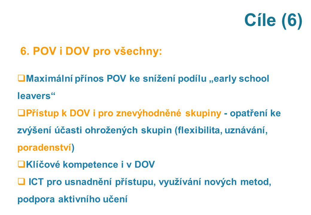 Cíle (6) 6. POV i DOV pro všechny: