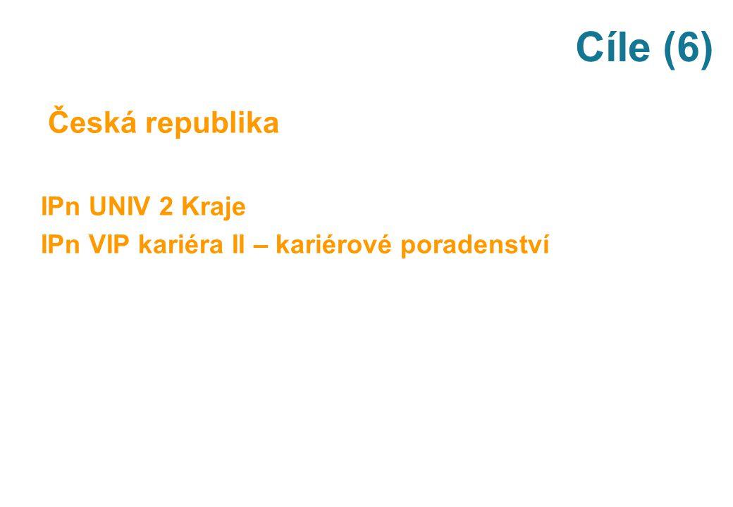 Cíle (6) Česká republika IPn UNIV 2 Kraje