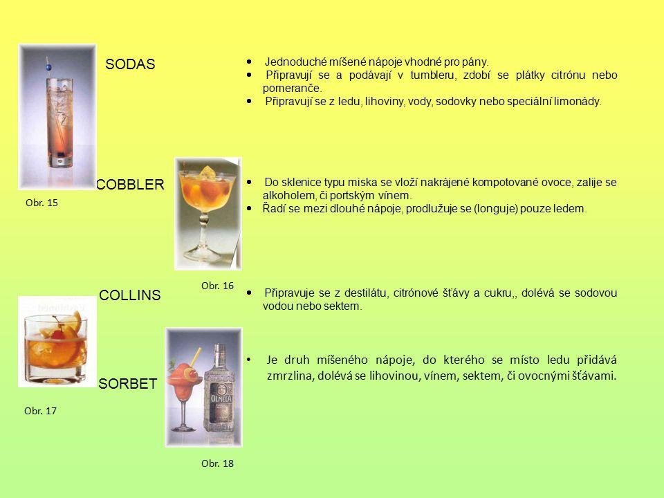 SODAS COBBLER COLLINS SORBET