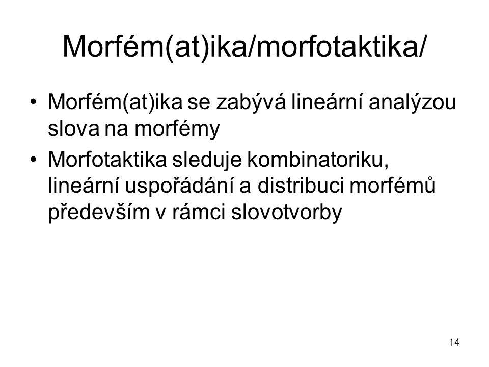 Morfém(at)ika/morfotaktika/