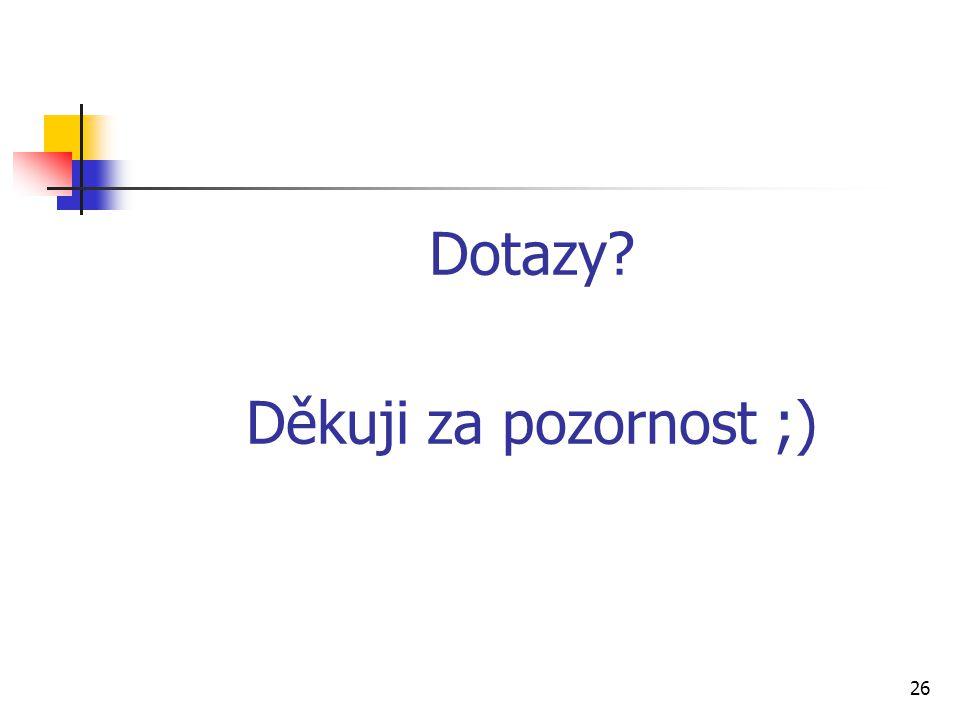 Dotazy Děkuji za pozornost ;)