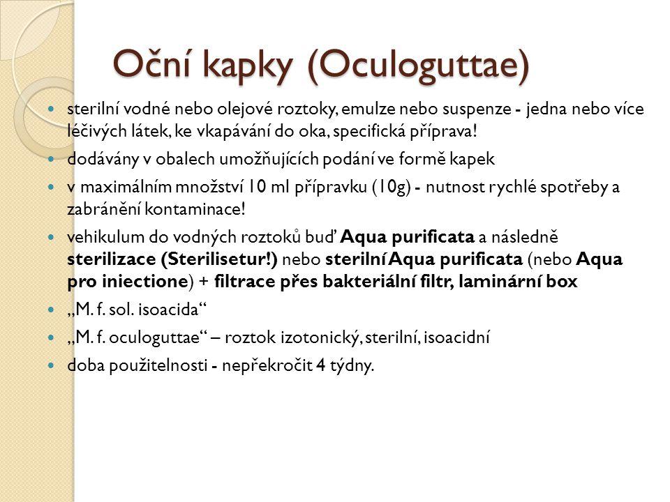 Oční kapky (Oculoguttae)