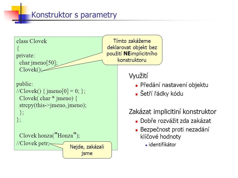 Konstruktor s parametry