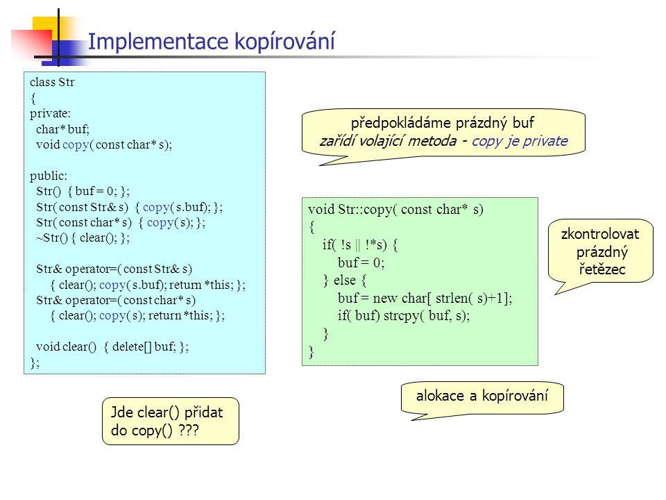 Implementace kopírování
