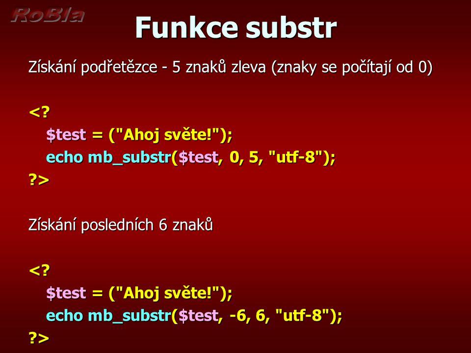 Funkce substr