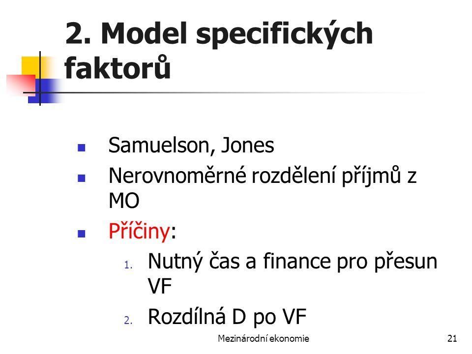2. Model specifických faktorů