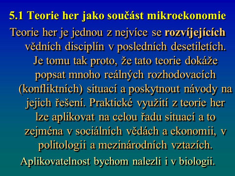 5.1 Teorie her jako součást mikroekonomie