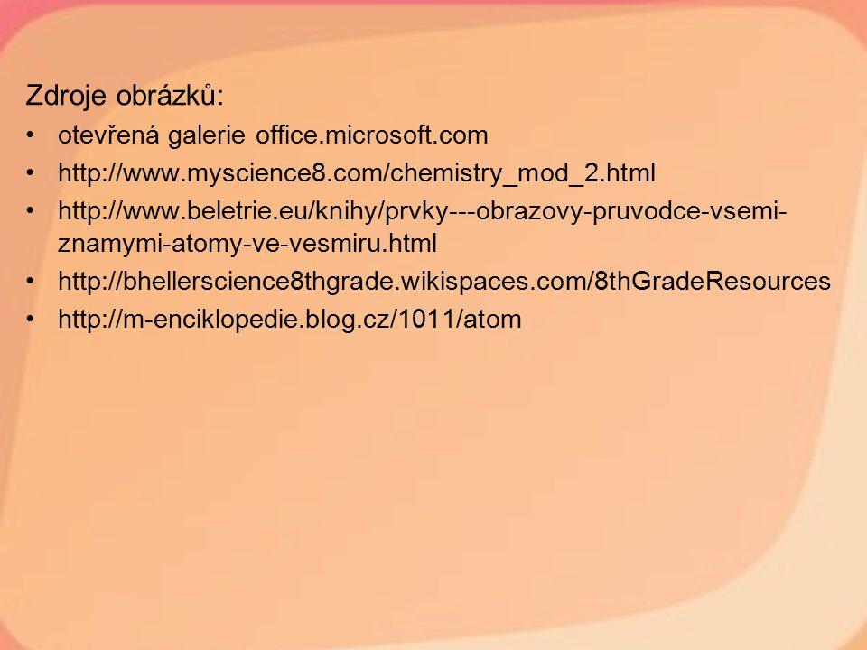 Zdroje obrázků: otevřená galerie office.microsoft.com