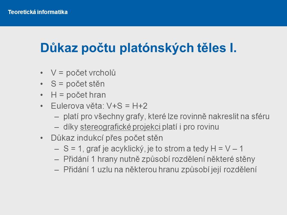 Důkaz počtu platónských těles I.