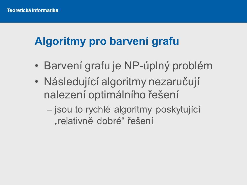 Algoritmy pro barvení grafu