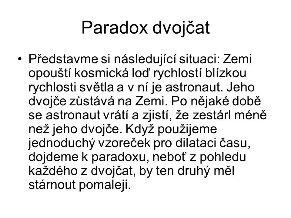 Paradox dvojčat