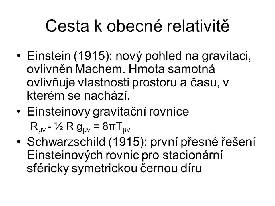 Cesta k obecné relativitě