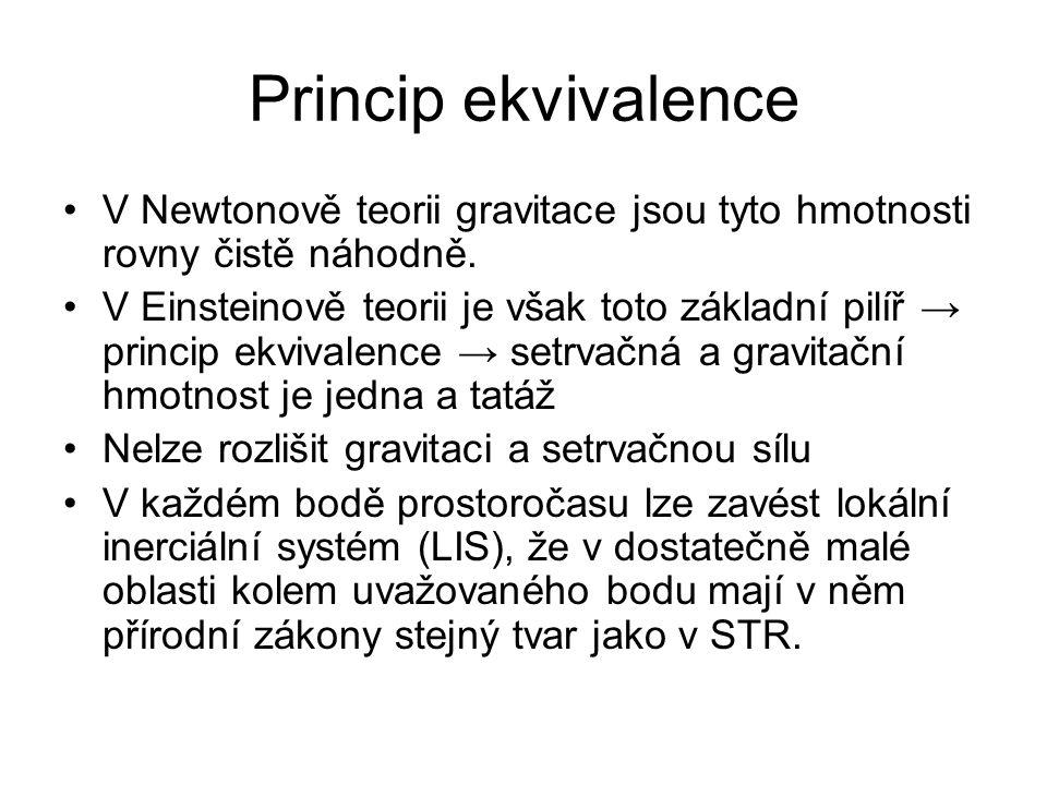 Princip ekvivalence V Newtonově teorii gravitace jsou tyto hmotnosti rovny čistě náhodně.