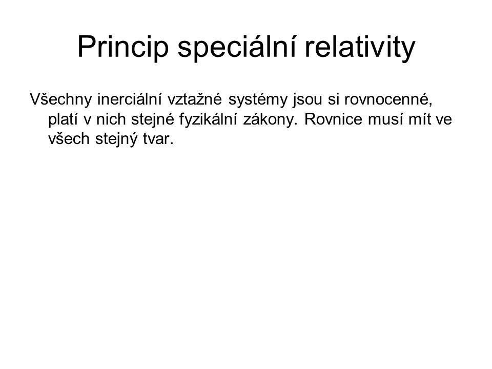 Princip speciální relativity