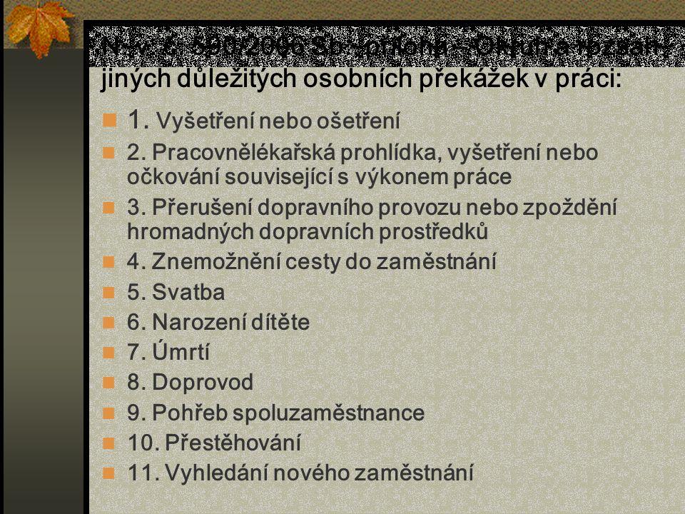 1. Vyšetření nebo ošetření