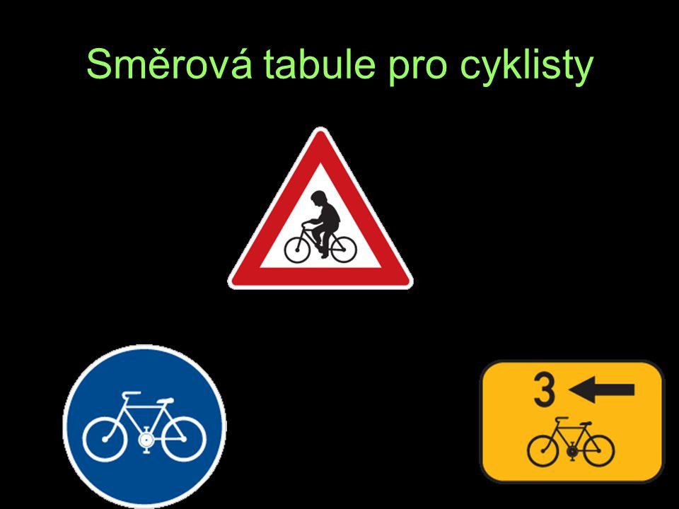 Směrová tabule pro cyklisty