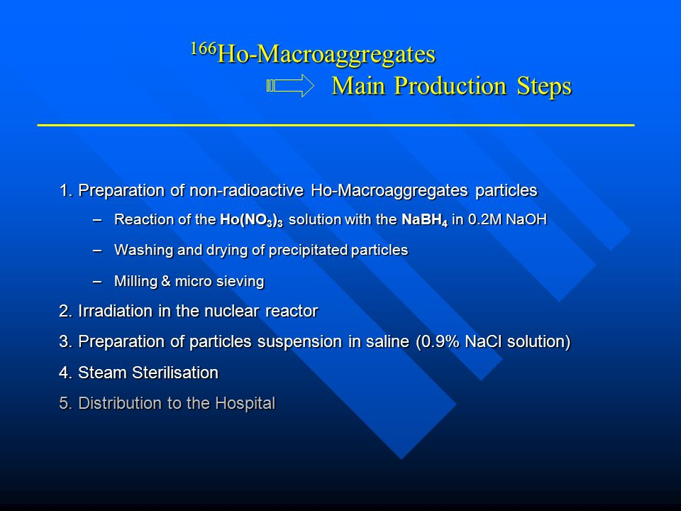 166Ho-Macroaggregates Main Production Steps