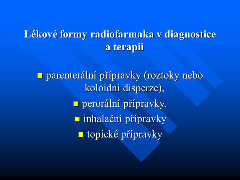 Lékové formy radiofarmaka v diagnostice a terapii