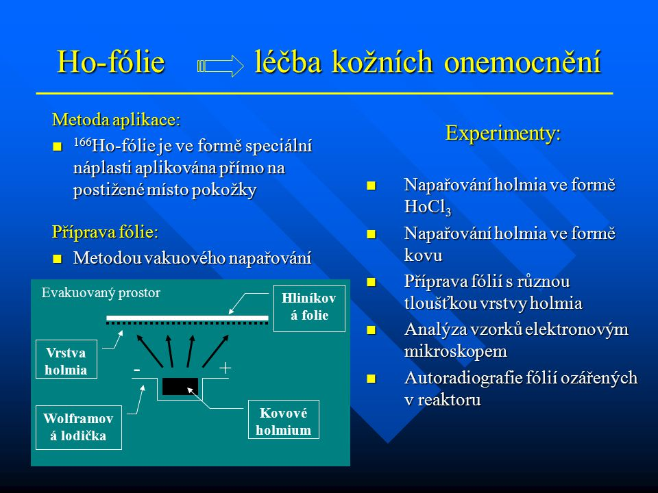 Ho-fólie léčba kožních onemocnění