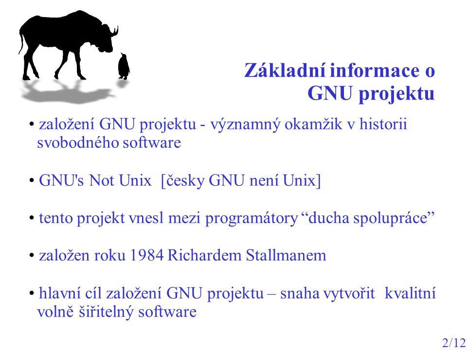 Základní informace o GNU projektu