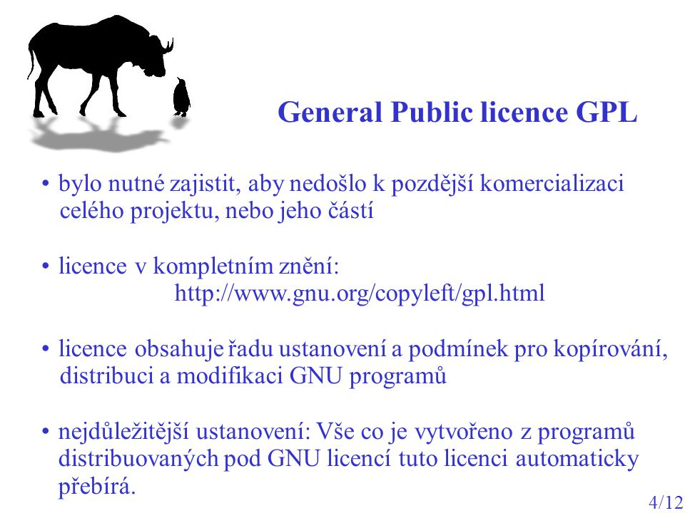 General Public licence GPL