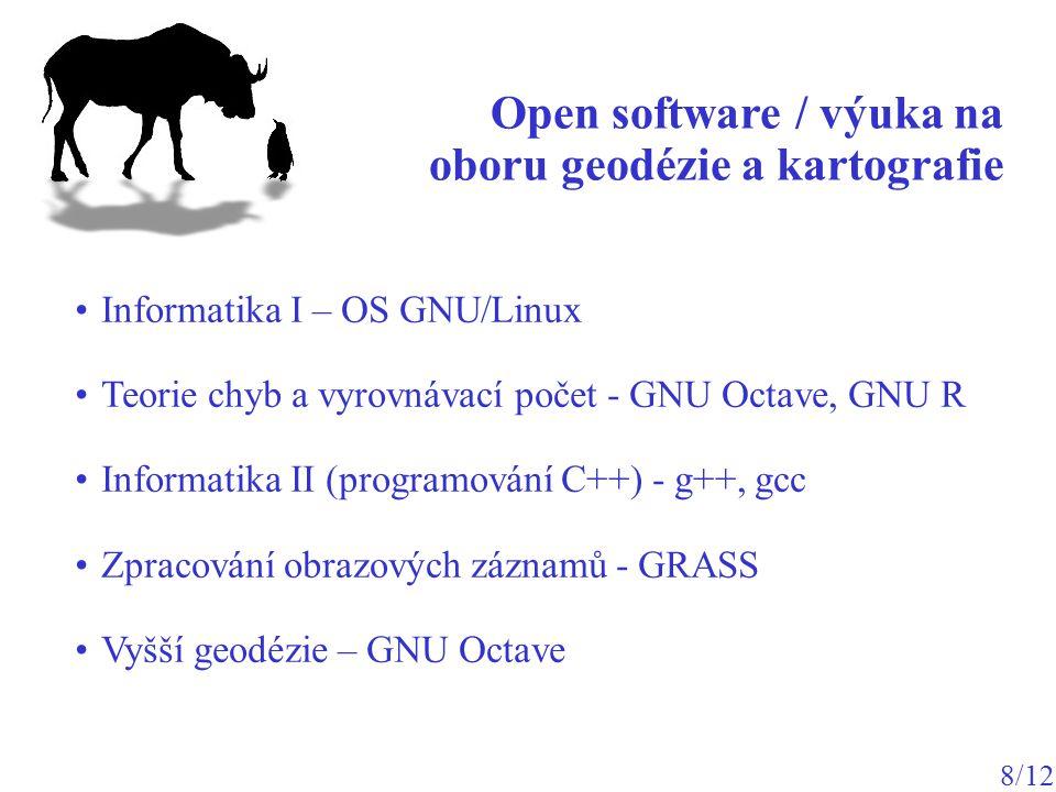 Open software / výuka na oboru geodézie a kartografie