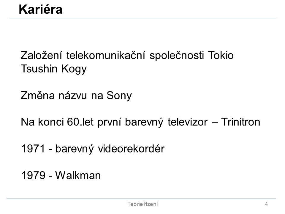 Kariéra Založení telekomunikační společnosti Tokio Tsushin Kogy