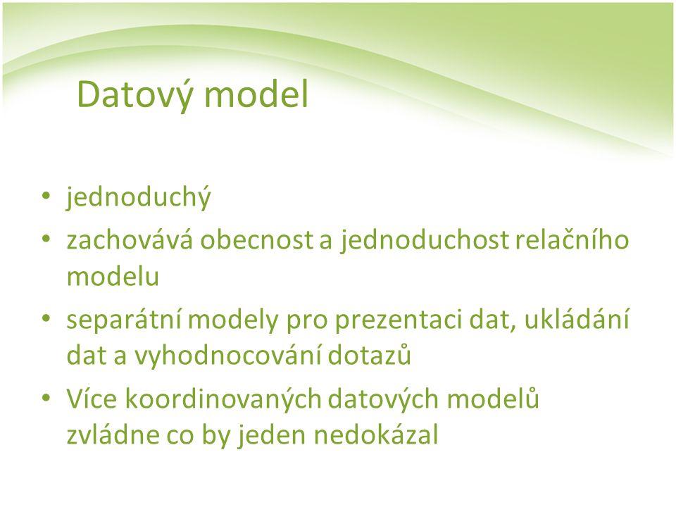 Datový model jednoduchý