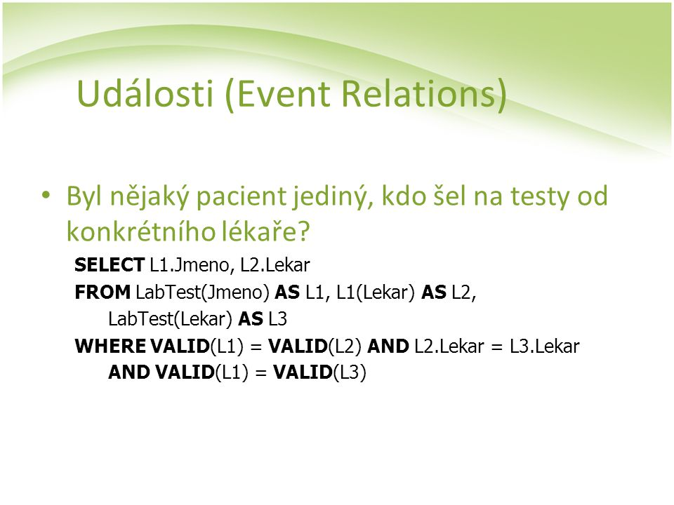 Události (Event Relations)