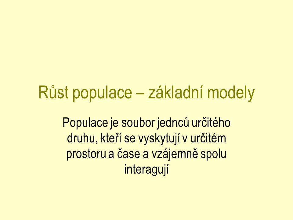 Růst populace – základní modely