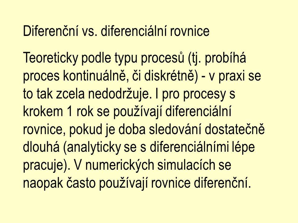 Diferenční vs. diferenciální rovnice
